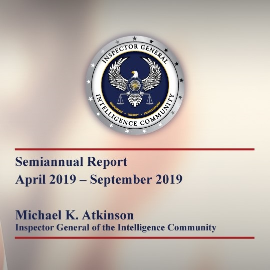 ICIG Semiannual Report Apr 2019 - Sep 2019